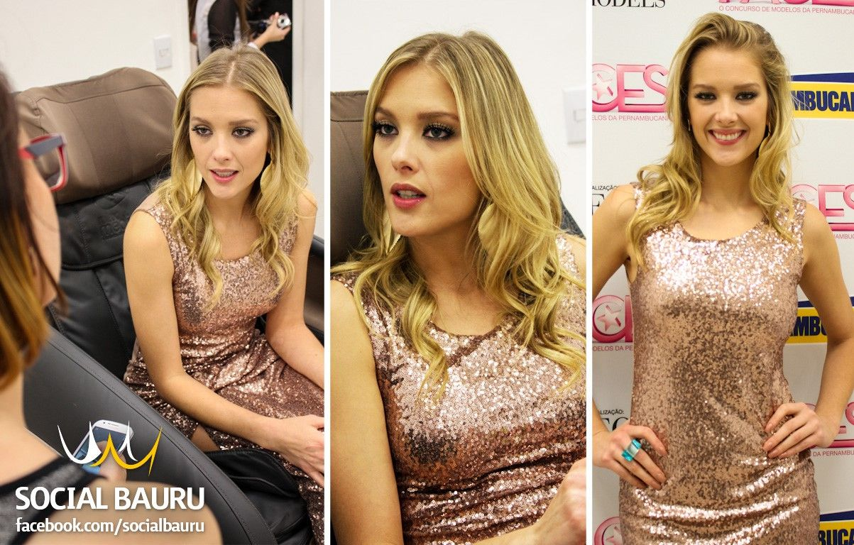 "A modelo e apresentadora participou da semifinal do concurso ""Faces"" da Pernambucanas"