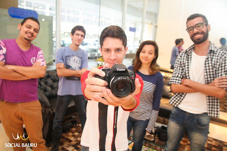 """Estudantes do quarto ano de Rádio e TV da Unesp Bauru e responsáveis pelo projeto """"Sobre Ser"""""""