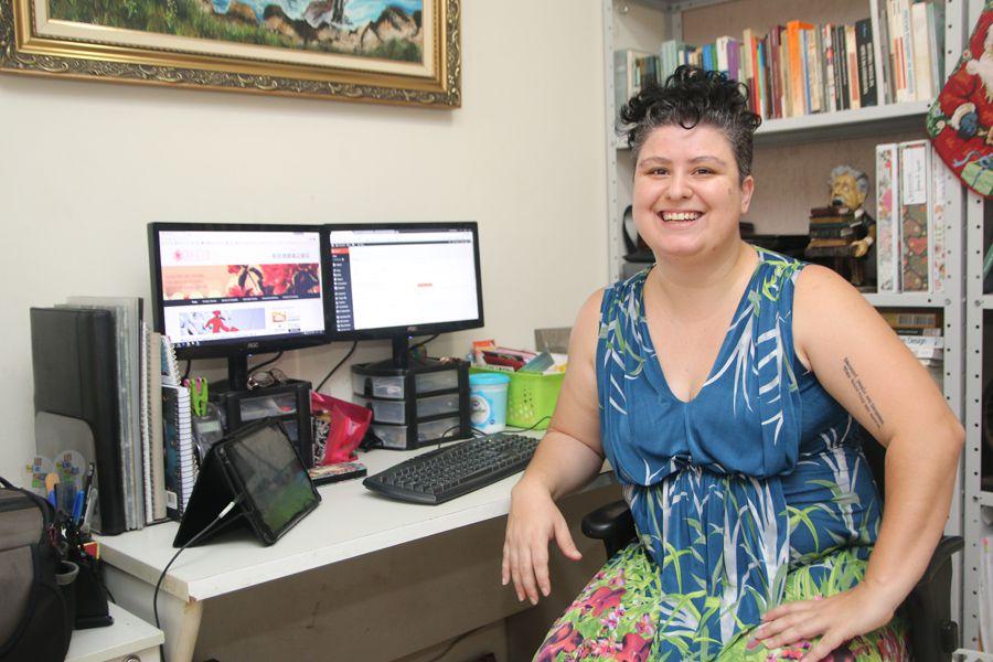 Janaína Azevedo, moradora de Bauru, é professora e se uniu à tecnologia. Agora dá aulas online!
