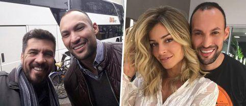 Edu Oliveira com Romeu Felipe, cabeleireiro de Grazi Massafera