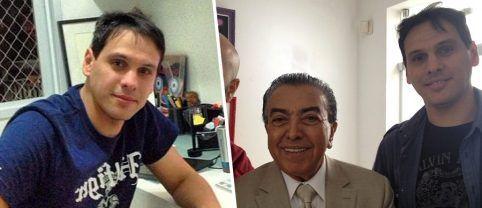 Mauro Souza com Maurício de Souza, da Turma da Mônica