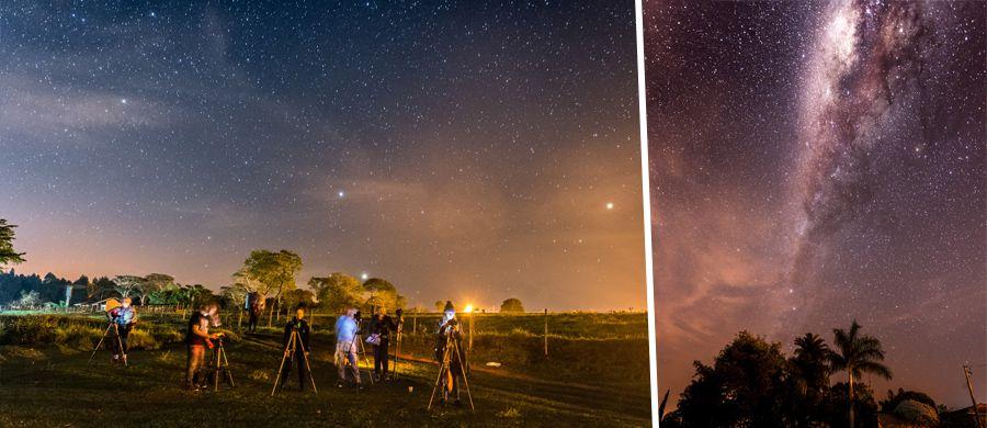 """Workshop """"Em busca da Via Láctea"""""""