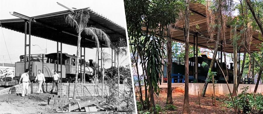 antes e depois do Bosque da Comunidade em Bauru