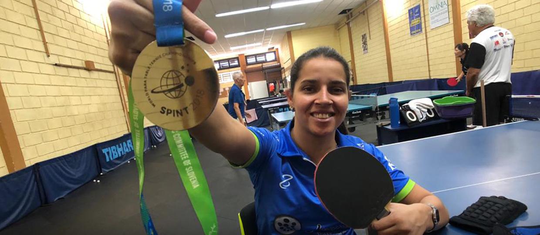 ef3bc07fbdd5c Primeira brasileira a ganhar o Mundial de Tênis de Mesa Paralímpico é de  Bauru!