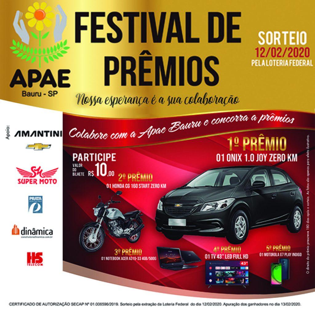 festival de prêmios - apae