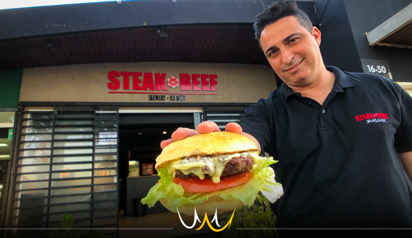 Steak Beef Bauru - hambúrgueres de Angus