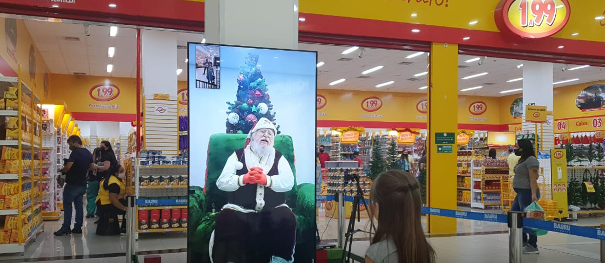 Papai Noel Virtual Bauru Shopping