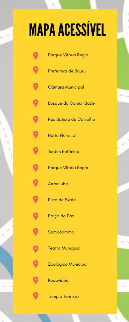 mapa acessível