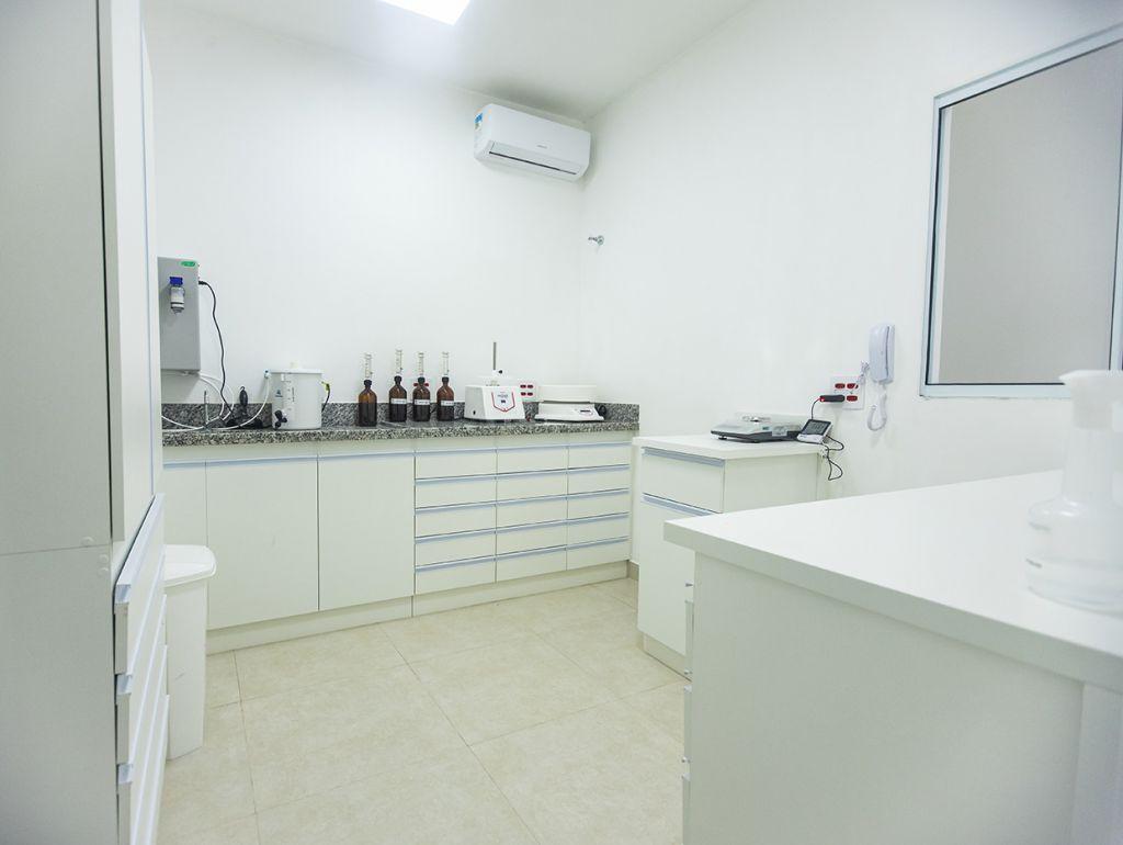 Laboratório da farmácia de manipulação