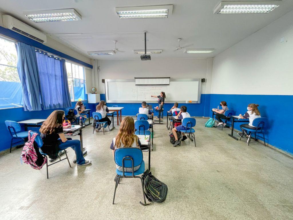 Sala do colégio