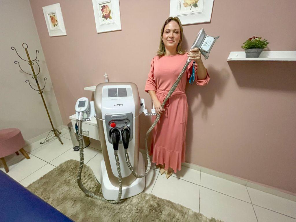 Máquina para alcançar a harmonização corporal
